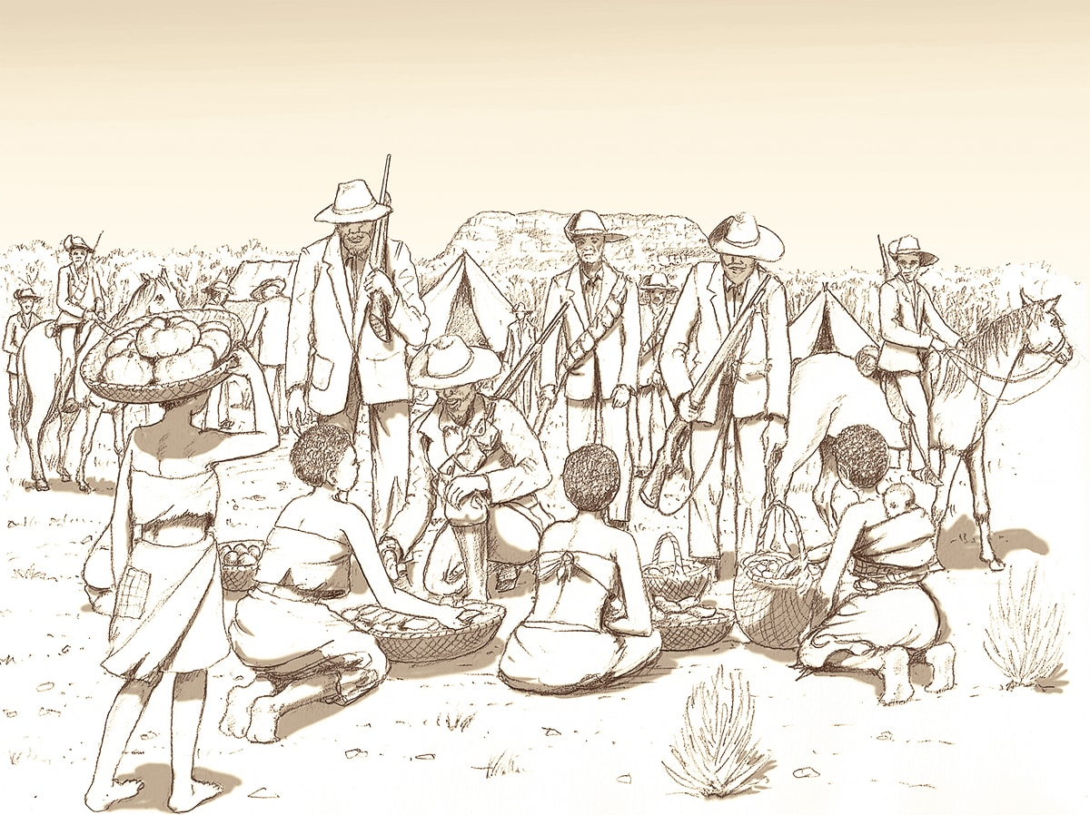 The Boers were able to barter for fresh food at friendly villages.